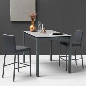 Table snack extensible en céramique et métal - Baron