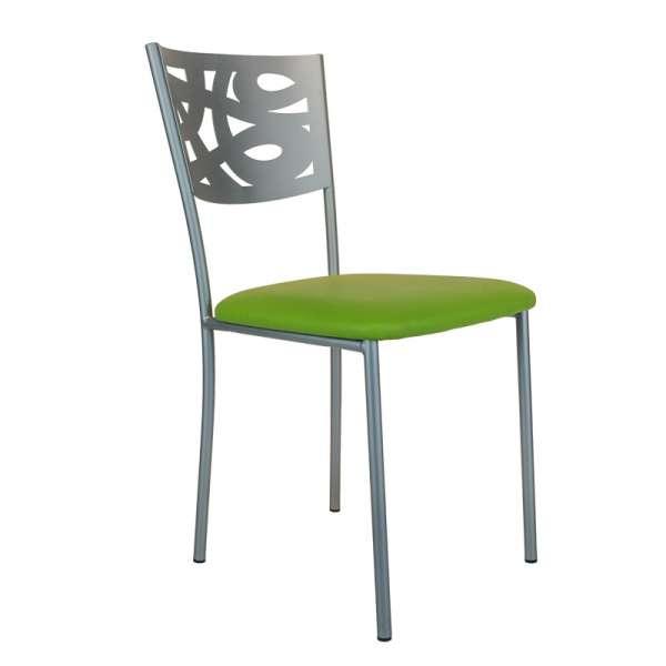 Chaise contemporaine en métal et vinyl - Claudie