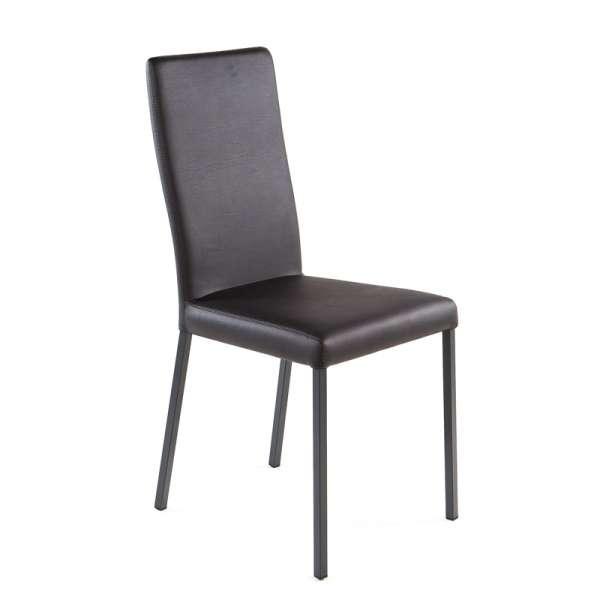 Chaise contemporaine en vinyl gris anthracite - Garda19 - 19