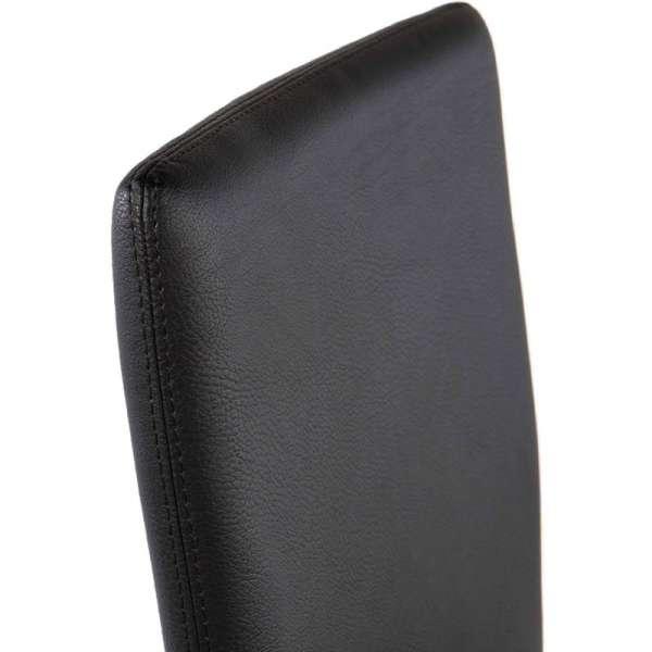 Chaise contemporaine en vinyl noir - Garda 7 - 8