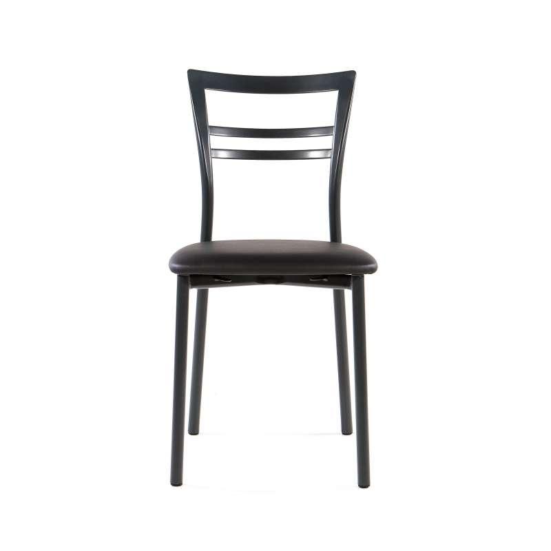 Chaise de cuisine en synth tique et m tal go 4 pieds for Chaise de cuisine but