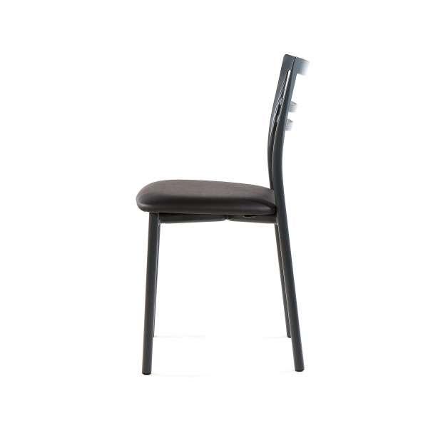 Chaise de cuisine rembourrée en métal - Go 3 - 11