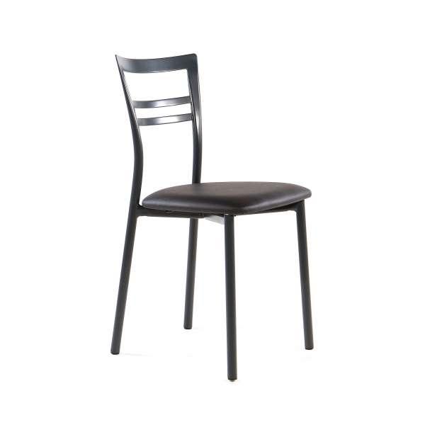 Chaise de cuisine rembourrée en métal - Go 9 - 17