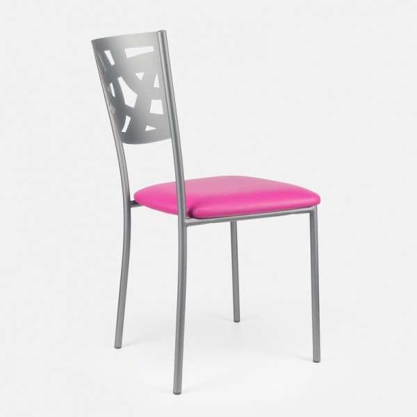 Chaise contemporaine en métal et vinyl - Claudie 9 - 9