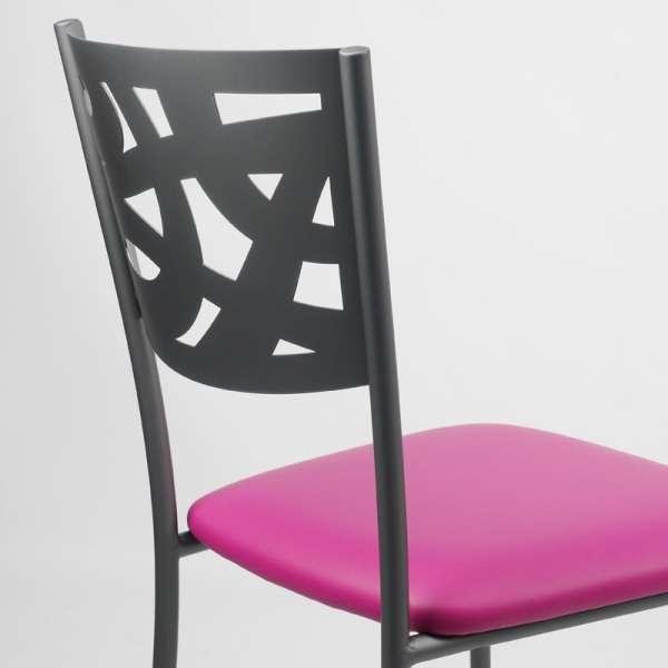 Chaise contemporaine en métal et vinyle - Claudie 10 - 10