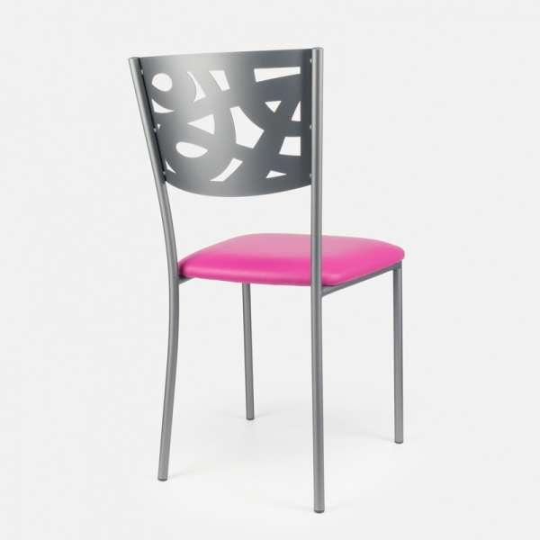 Chaise contemporaine en métal et vinyl - Claudie 8 - 8