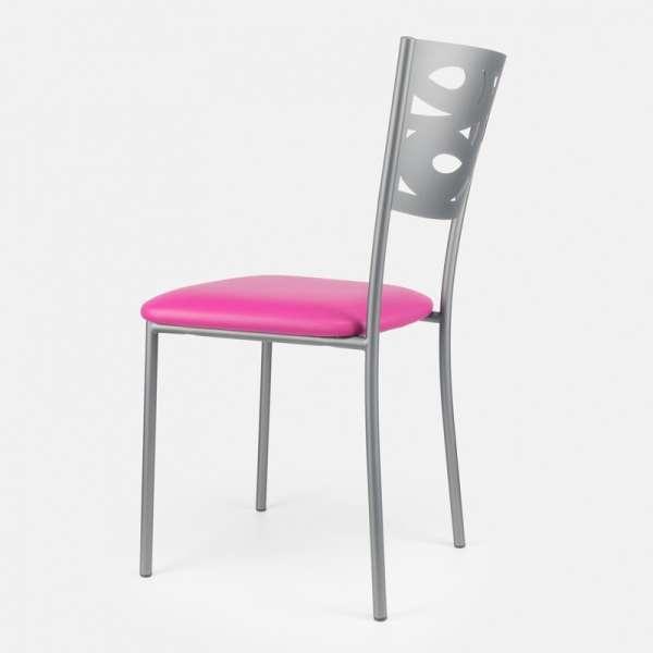 Chaise contemporaine en métal et vinyl - Claudie 5 - 5