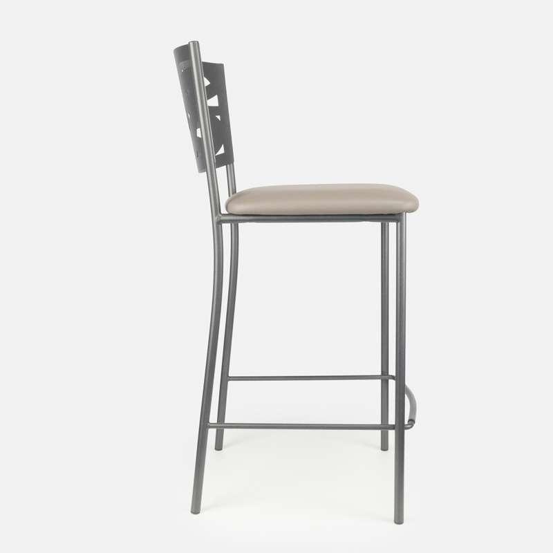 tabouret snack contemporain en vinyl et m tal claudie 4 pieds tables chaises et tabourets. Black Bedroom Furniture Sets. Home Design Ideas