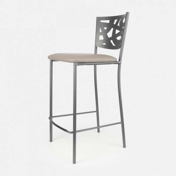 tabouret snack contemporain en vinyle et m tal claudie 4 pieds tables chaises et tabourets. Black Bedroom Furniture Sets. Home Design Ideas