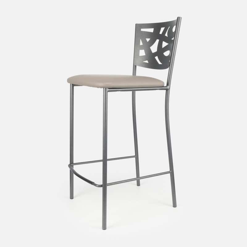 tabouret snack contemporain en vinyle et m tal claudie. Black Bedroom Furniture Sets. Home Design Ideas