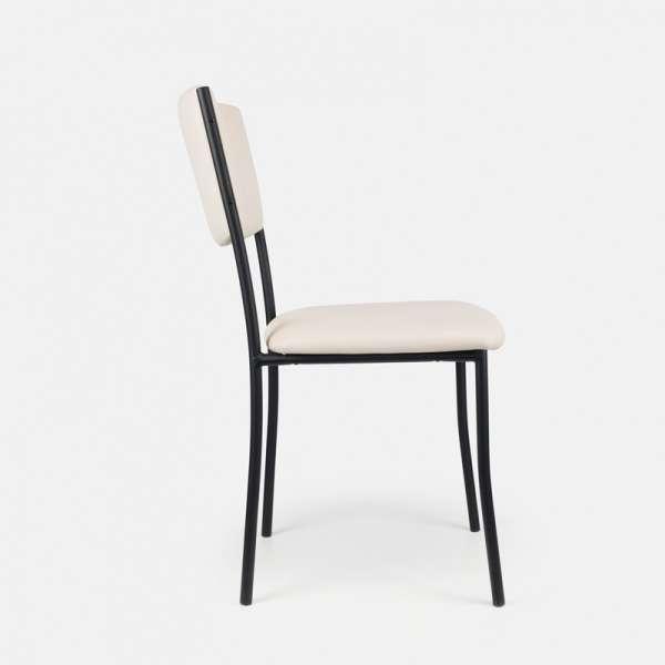 Chaise de cuisine en métal et vinyl - Ruby 5 - 6