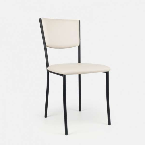 Chaise de cuisine en métal et vinyl - Ruby 3 - 4