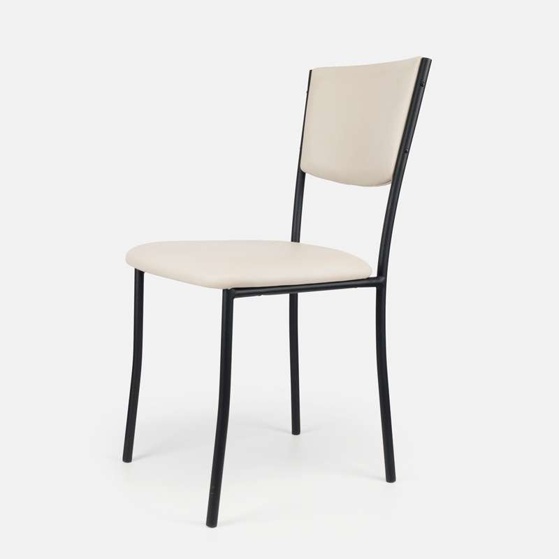 Cuisine Design Ouverte Sur Salon : Chaise de cuisine en métal et vinyl  Ruby  4 Pieds  tables