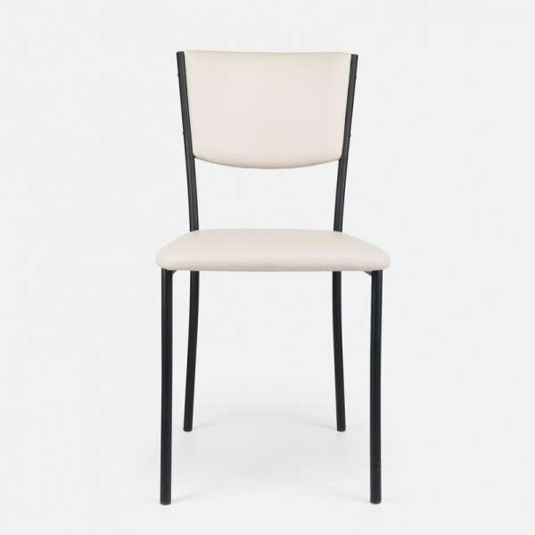 Chaise de cuisine en métal et vinyl - Ruby 14 - 15