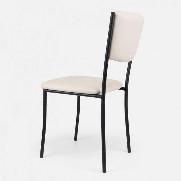 Chaise de cuisine en métal et vinyle  Ruby  4 Pieds  tables