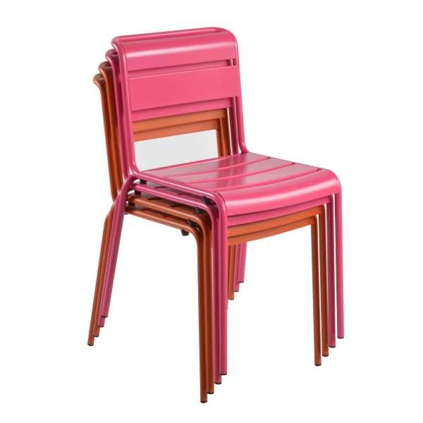 Chaise de jardin vintage empilable en métal - Lutetia 22 - 20