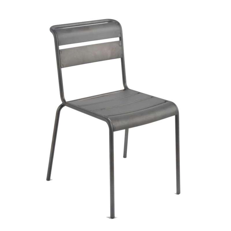 chaise industrielle en m tal lutetia 4 pieds tables chaises et tabourets. Black Bedroom Furniture Sets. Home Design Ideas