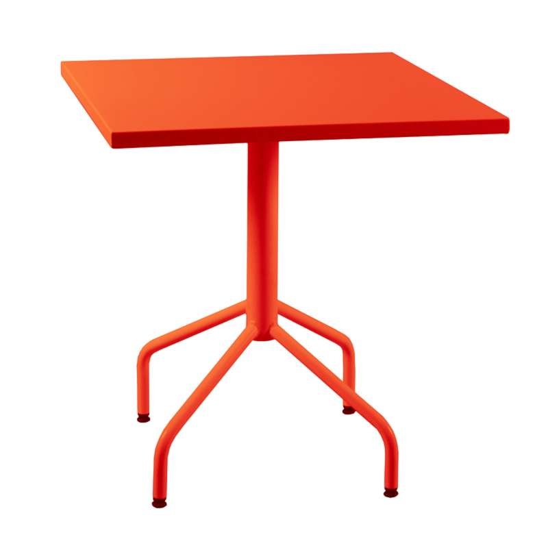 Table De Jardin Metal Orange Des Id Es