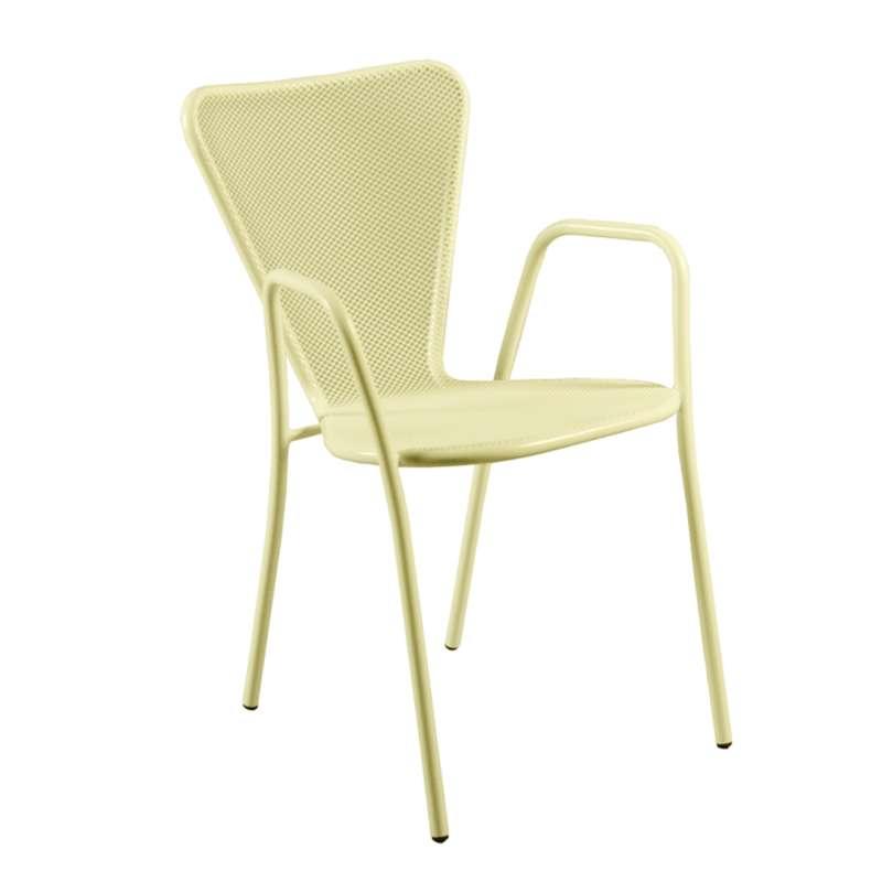 fauteuil de jardin design en m tal sunset 4 pieds tables chaises et tabourets. Black Bedroom Furniture Sets. Home Design Ideas