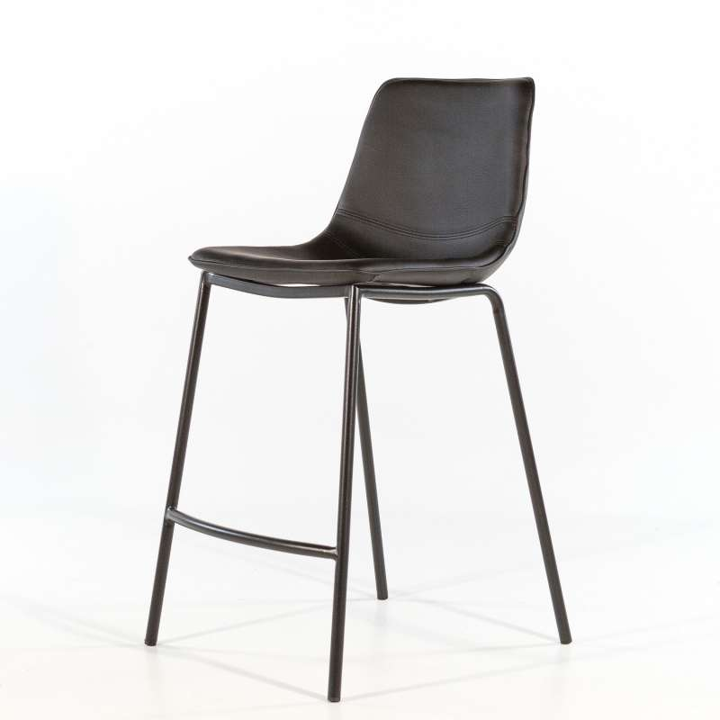 tabouret snack en vinyl et m tal coque 4 pieds. Black Bedroom Furniture Sets. Home Design Ideas