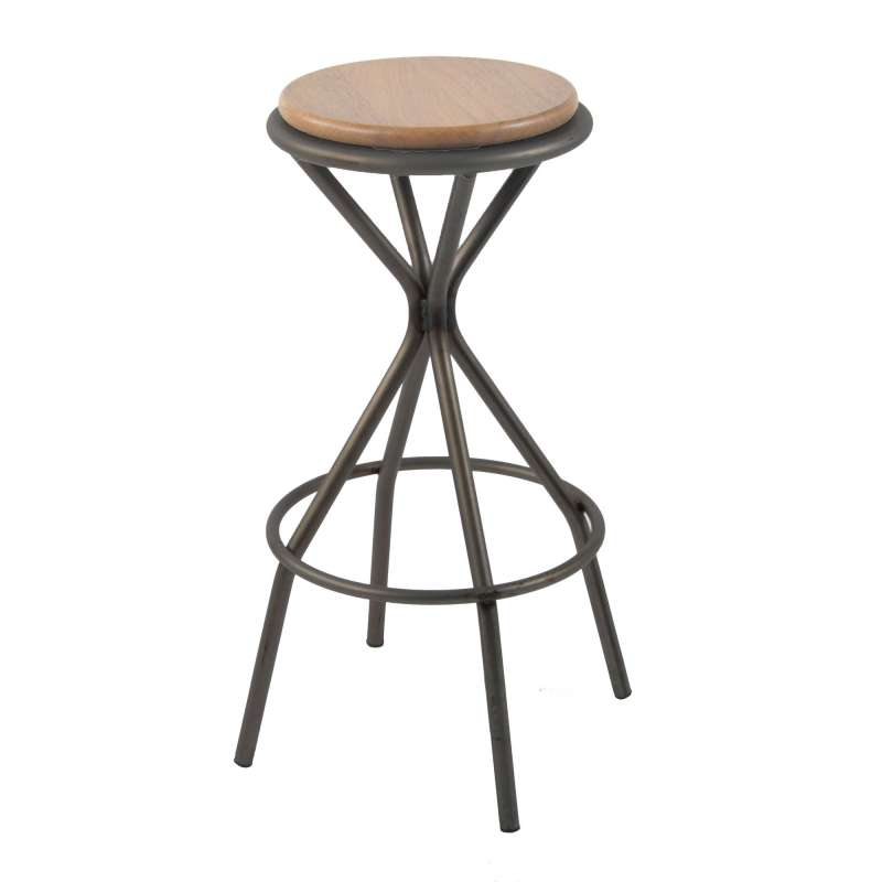 tabouret de bar industriel en m tal opium 4 pieds tables chaises et tabourets. Black Bedroom Furniture Sets. Home Design Ideas