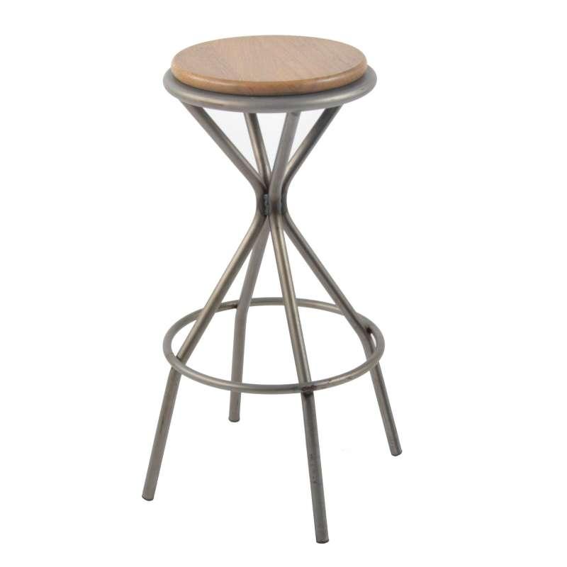 tabouret de bar industriel en m tal opium 4 pieds tables chaises et tabourets. Black Bedroom Furniture Sets. Home Design Ideas