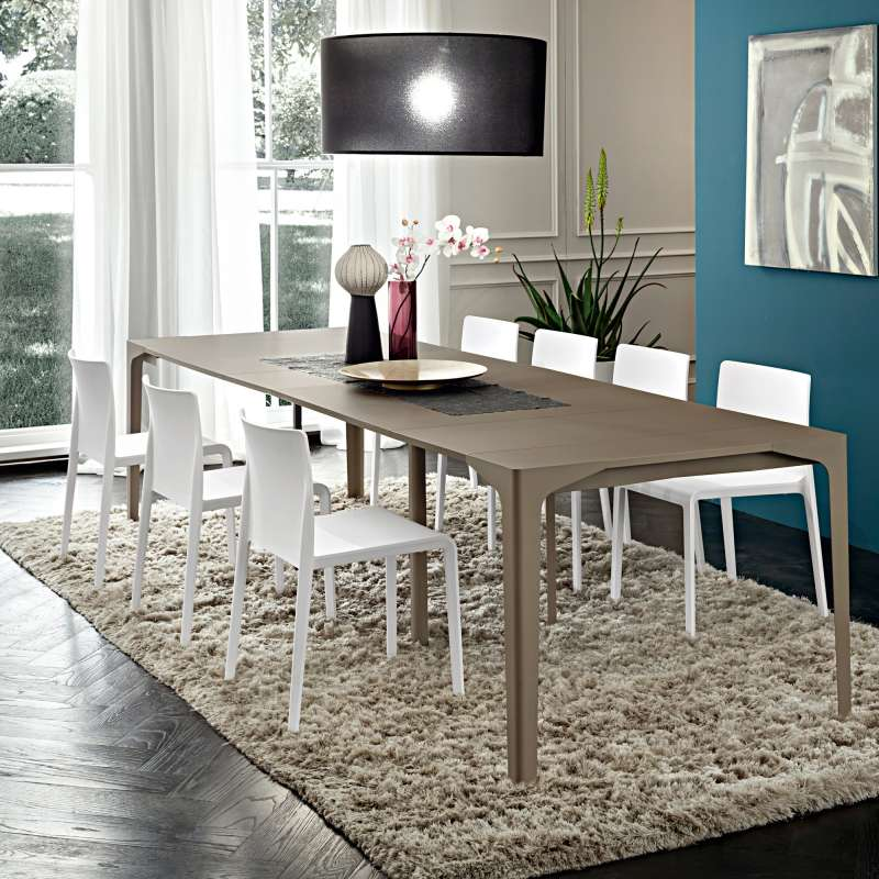 console extensible en stratifi fabio 4 pieds tables. Black Bedroom Furniture Sets. Home Design Ideas