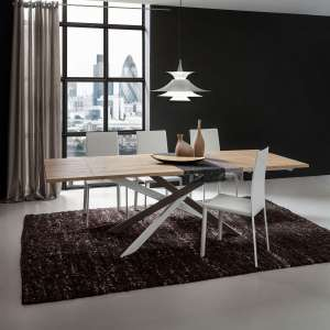Table contemporaine extensible en stratifié - Renzo 3