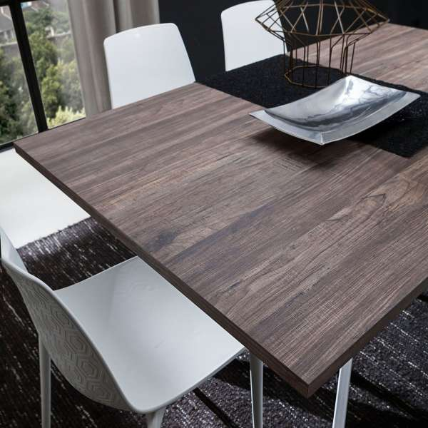 Table contemporaine extensible en stratifié - Renzo 4 - 4