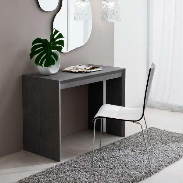 Table console extensible contemporaine en stratifi for Table contemporaine extensible