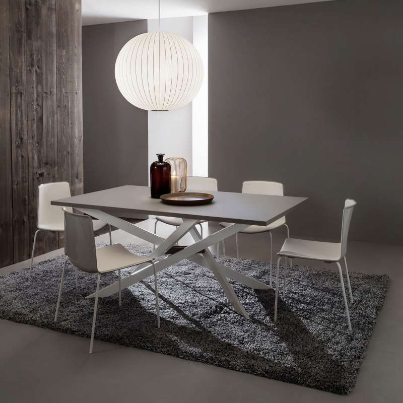 table de salle manger design extensible en fenix renzo 4 pieds tables chaises et tabourets. Black Bedroom Furniture Sets. Home Design Ideas