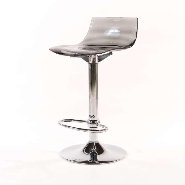 Tabouret réglable design en technopolymère vert transparent et métal - 1477 15 - 15