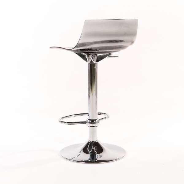 Tabouret réglable design en technopolymère vert transparent et métal - 1477 17 - 17
