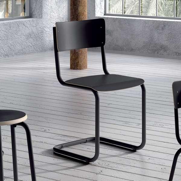 Chaise vintage en bois et métal - Vintage 2 - 2