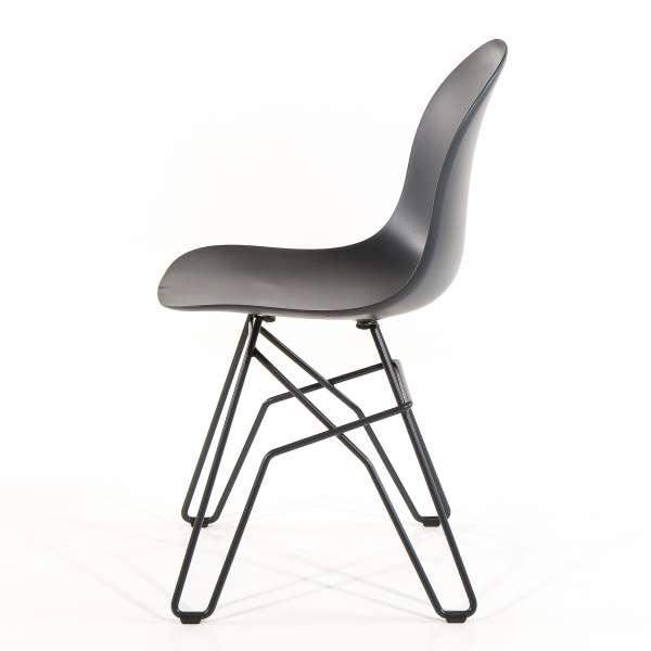 Chaise design en polypropylène noir et métal - 1664 Academy Connubia 3 - 3