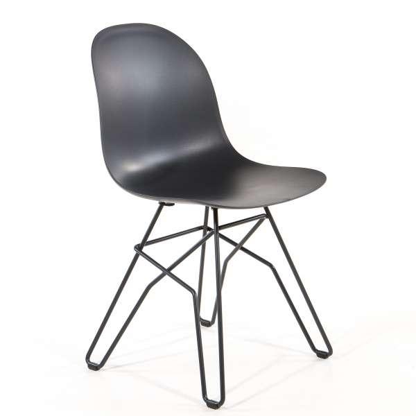 Chaise design en polypropyl ne et m tal 1664 academy - Chaises design en soldes ...