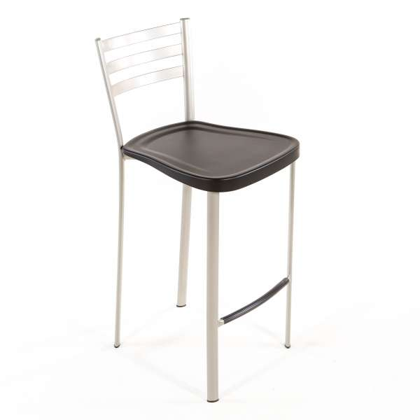 Tabouret snack en métal avec assise polypropylène - 1329 5 - 4