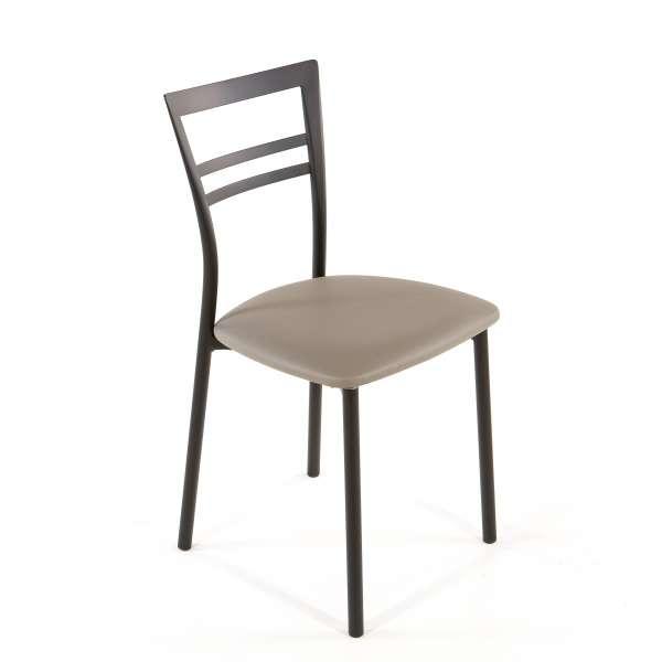 Chaise de cuisine en synthétique et métal - Go 1419 40 - 57