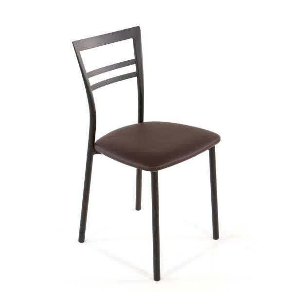 Chaise de cuisine en synthétique et métal - Go 1419 41 - 58