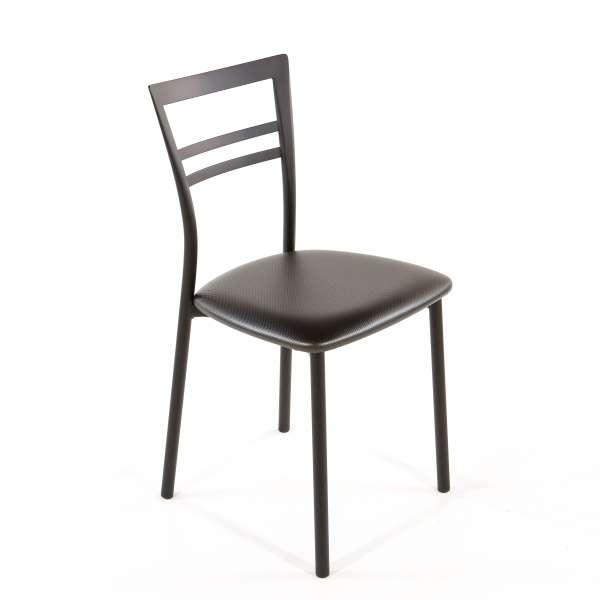 Chaise de cuisine en synthétique et métal - Go 1419 43 - 60