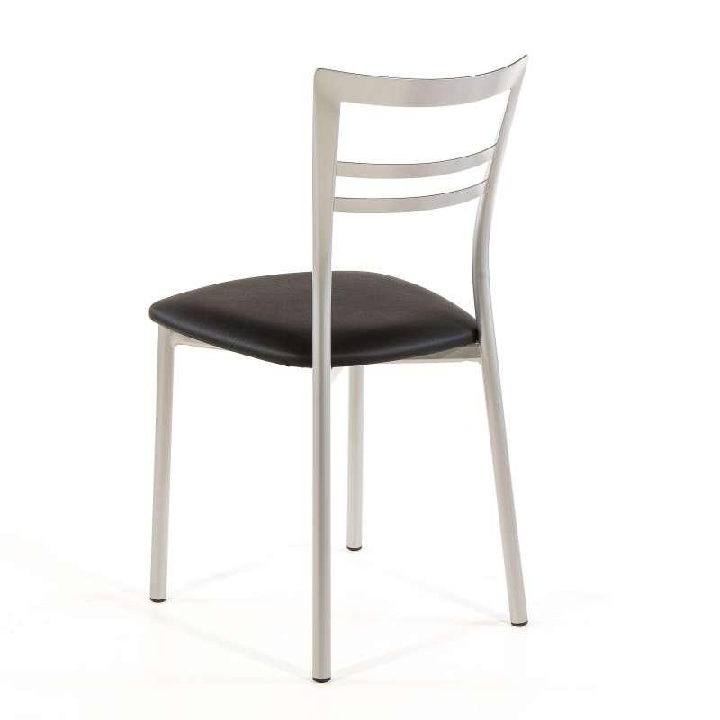 Chaise de cuisine rembourrée en vinyl et métal  Go 1419  4 Pieds