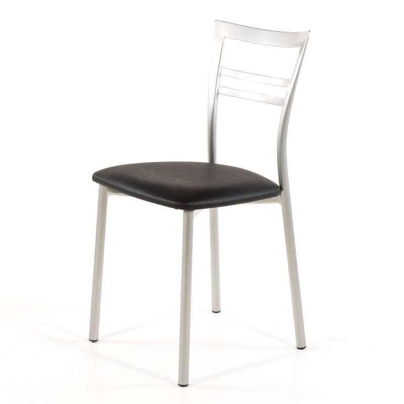 Cuisine Design Ouverte Sur Salon : Chaise de cuisine rembourrée en vinyl et métal  Go 1419  4 Pieds