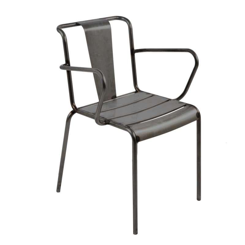 Fauteuil industriel en m tal lutetia 4 pieds tables - Fauteuil industriel ...