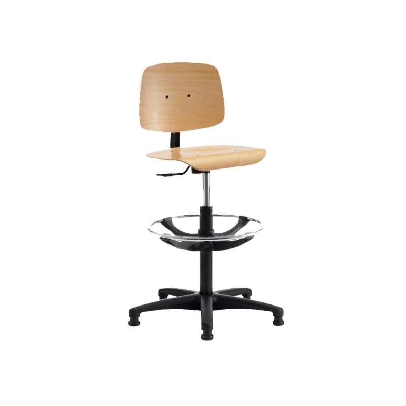 chaise d 39 atelier r glable en bois tecnik 4 pieds tables chaises et tabourets. Black Bedroom Furniture Sets. Home Design Ideas