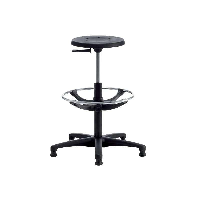 tabouret d 39 atelier r glable avec repose pieds tecnik 4 pieds tables chaises et tabourets. Black Bedroom Furniture Sets. Home Design Ideas