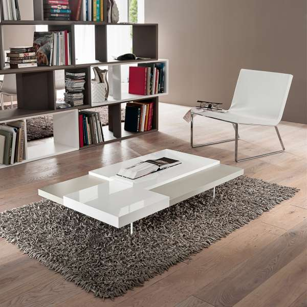 Table basse bicolore en mélaminé - Erica 5 - 5
