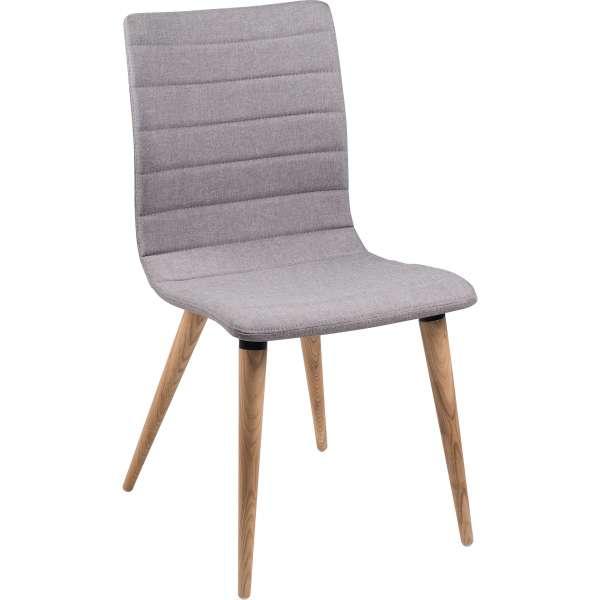 Chaise scandinave en tissu et bois - Doris 6 - 10