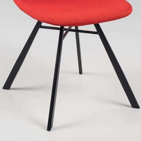 Chaise coque en tissu et métal - Tulipe8 - 14