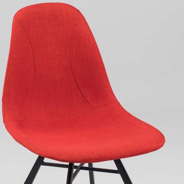Chaise coque en tissu et métal - Tulipe 7 - 13