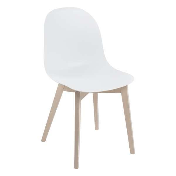 Chaise scandinave en polypropylène blanc et bois - 1665 Academy Connubia - 1